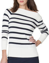 Chaps Plus Striped Cotton-Modal Sweater
