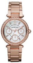 Michael Kors Mini-Size Parker Multi-Function Watch, Rose Golden