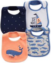 Carter's 4-Pack Graphic-Print Teething Bibs, Baby Boys