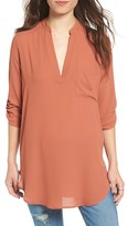 Lush Women's 'Perfect' Roll Tab Sleeve Tunic