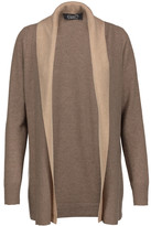 Magaschoni Two-tone draped cashmere cardigan