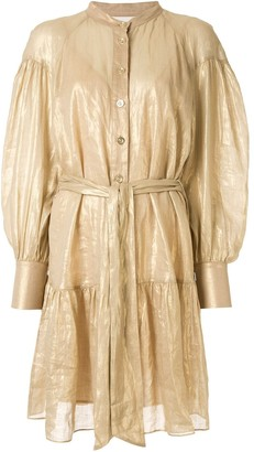 Ginger & Smart Glorious metallized shirt dress