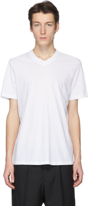 Jil Sander White V-Neck T-Shirt
