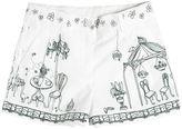 Dolce & Gabbana Garden Printed Cotton Poplin Shorts