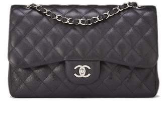 Chanel Black Caviar New Classic Double Flap Jumbo