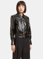 Lanvin Women's Cracked Patent Leather Jacket in Black