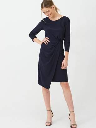Wallis Ruched Side Dress - Ink