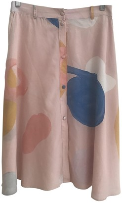Stine Goya Pink Silk Skirt for Women