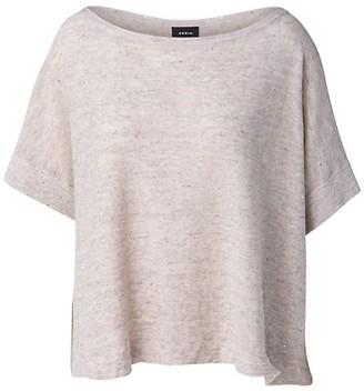 Akris Sequin Embellished Linen-Blend Boatneck T-Shirt