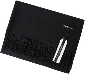 Linberfor Cashmere Scarf Pashminas Wraps Shawl Super Soft Solid Warm Wool Ladies Lovers Scarves for Winter Autumn Spring (Black)