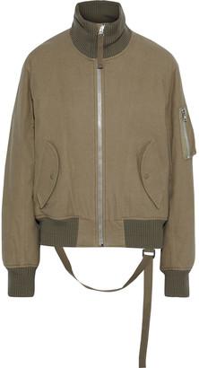Helmut Lang Strap-detailed Brushed-cotton Padded Bomber Jacket