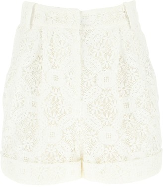 Alexander McQueen Lace High-Waisted Shorts