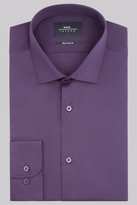 Moss Bros Extra Slim Fit Purple Single Cuff Stretch Shirt