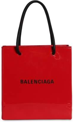 Balenciaga XXS PATENT LEATHER SHOPPING TOTE