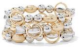 New York & Co. 3-Row Goldtone & Silvertone Stretch Bracelet