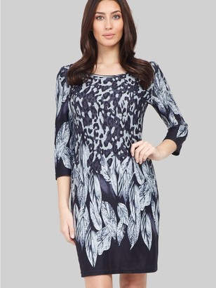 M&Co Izabel animal and feather print dress