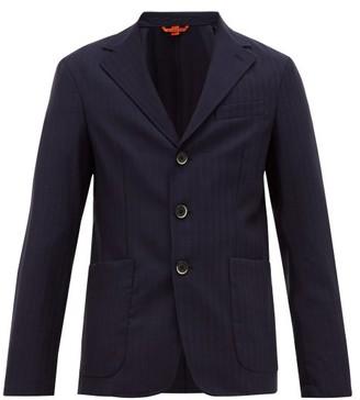 Barena Venezia - Piero Pinstripe Single Breasted Wool Blazer - Mens - Navy