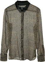 Amiri sheer leopard print shirt