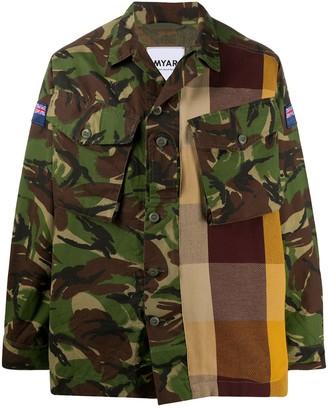 Myar Check Camou shirt jacket