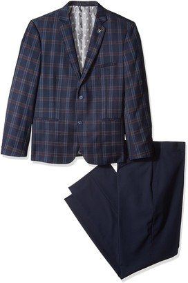 Stacy Adams Men's Big and Tall Brandi Big & Tall Duo Modern Fit Suit