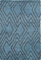 """Ecarpetgallery Hand-knotted Royal Maroc Abstract 5'4"""" x 7'9"""" Green 100% Wool area rug"""