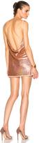 Ashish Sequin V Neck Backless Dress