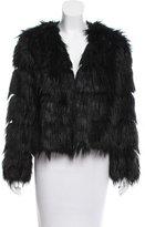 Anna Sui Faux Fur Open Front Jacket