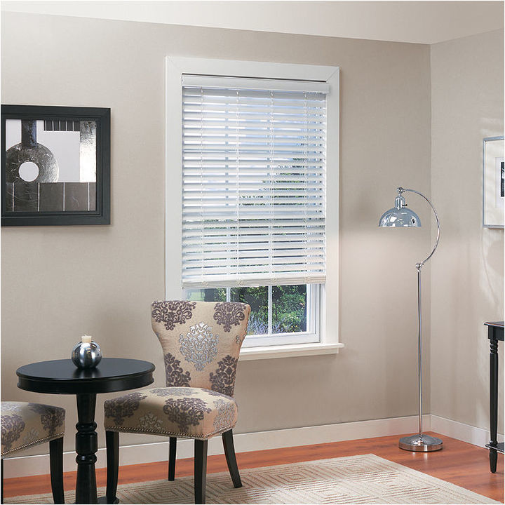 Asstd National Brand 2 Faux-Wood Cordless/Wandless Horizontal Blinds
