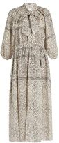 Zimmermann Caravan Bow batik-print linen smock dress