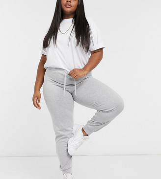 Street Collective Curve mix and match high waisted trackie in grey
