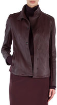 Akris Punto Napa Leather Snap-Front Jacket