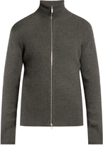 Raey Dense ribbed-cashmere zip-through sweater