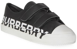 Burberry Kid's Two-Tone Lettered Sneakers