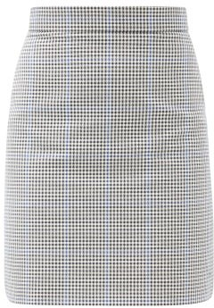 Alexander McQueen Prince Of Wales-check Twill Mini Skirt - Grey Multi