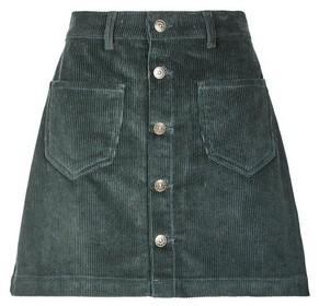 Dorothy Perkins Womens Only Green Corduroy Button Skirt, Green