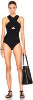Karla Colletto Surplice High Back Swimsuit
