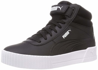 Puma Women's Carina MID Sneaker Black Black White 4.5 UK