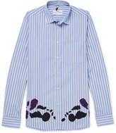 Oamc Printed Striped Cotton Shirt - Blue