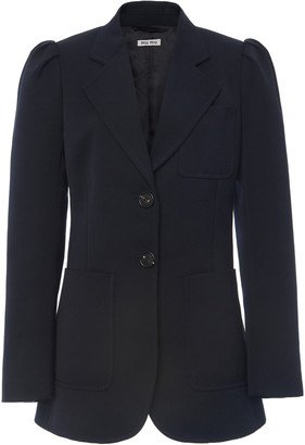 Miu Miu Notched Wool Blazer