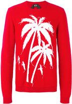 No.21 palm tree intarsia jumper - men - Cotton - 50