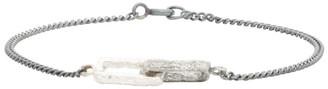 Pearls Before Swine Silver Double Link Bracelet