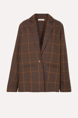 Matin MATIN - Prince Of Wales Checked Cotton Blazer - Brown