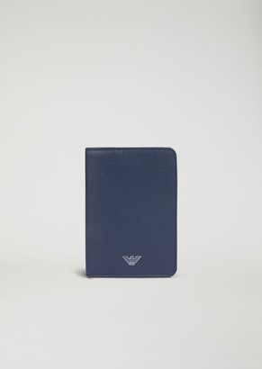 Emporio Armani Printed And Boarded Leather Passport Holder