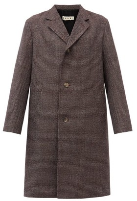 Marni Shetland Virgin-wool Overcoat - Burgundy