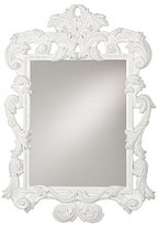 Ethan Allen White Ornate Mirror