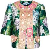 Dolce & Gabbana floral button jacket - women - Silk/Nylon/Polyester/Polybutylene Terephthalate (PBT) - 42