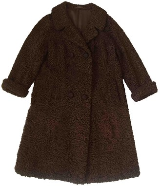 Astrakhan Non Signe / Unsigned Brown Coat for Women