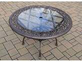 Rose Glass Dining Table Oakland Living Color: Antique Bronze