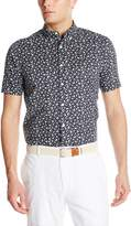 Dockers Short Sleeve Cotton Poplin Printed Crab Shirt