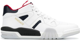 Versace High-Top Panelled Sneakers